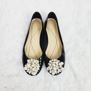 Kate Spade Abbie Patent Leather Pearl Flats